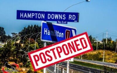 NZSBK AND MOTOFEST AT HAMPTON DOWNS POSTPONED